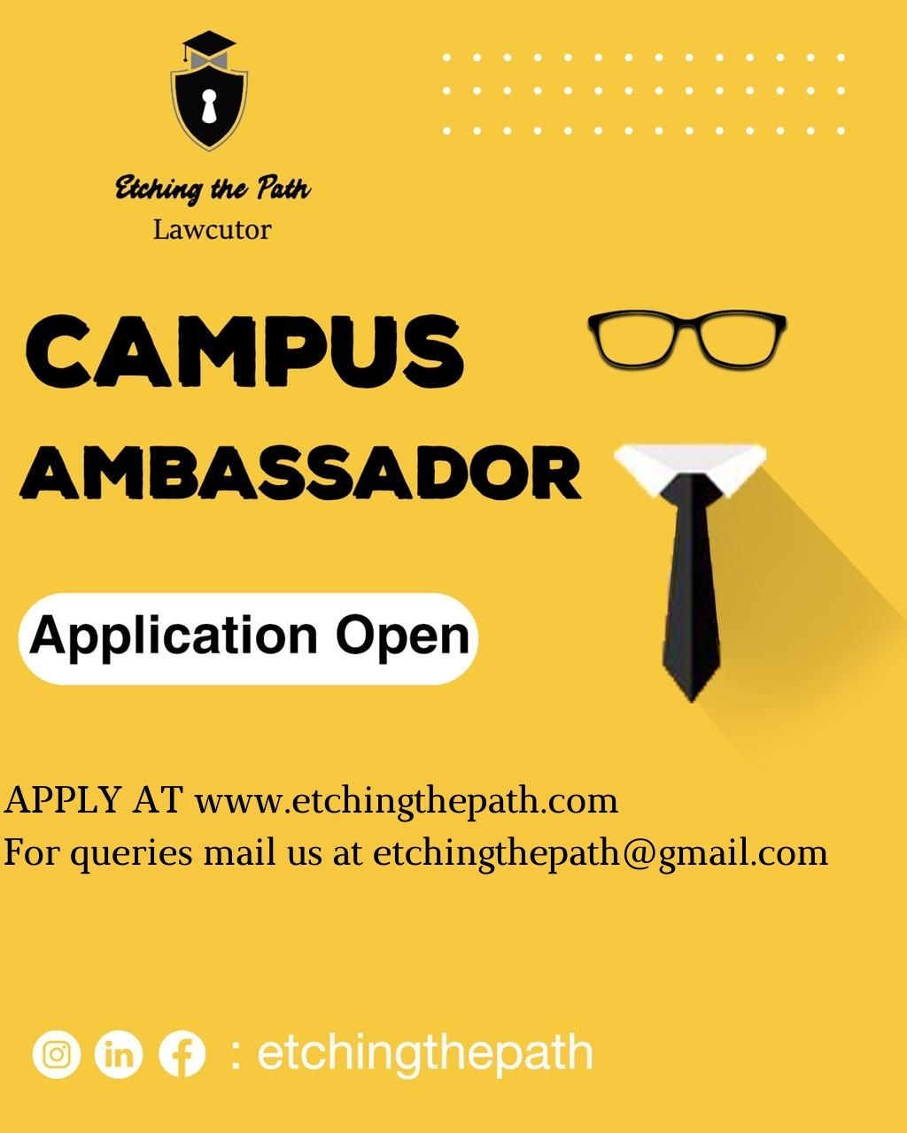 Etching the Path-Campus ambassador Program
