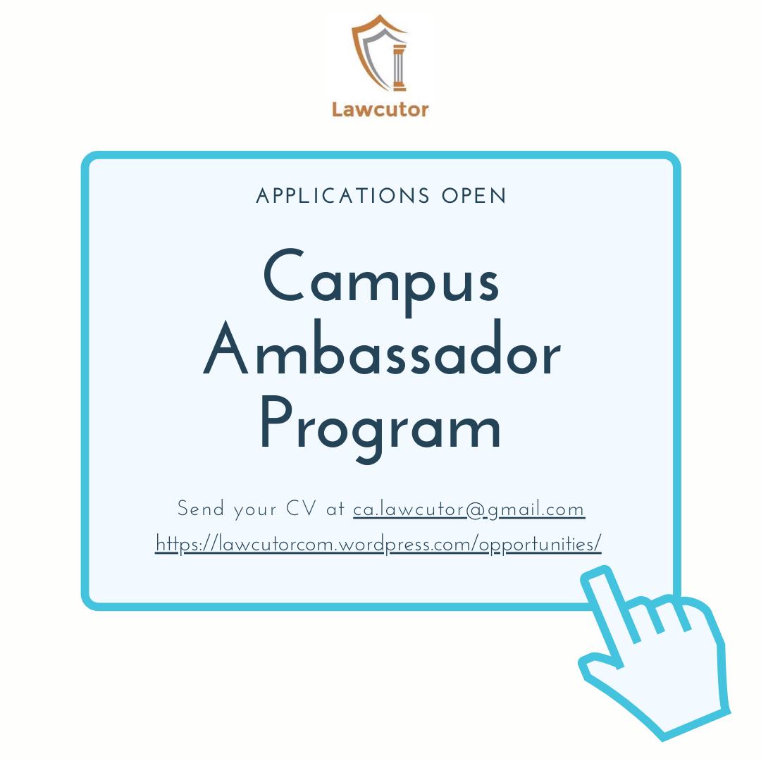 Applications Open for Campus Ambassador:Lawcutor
