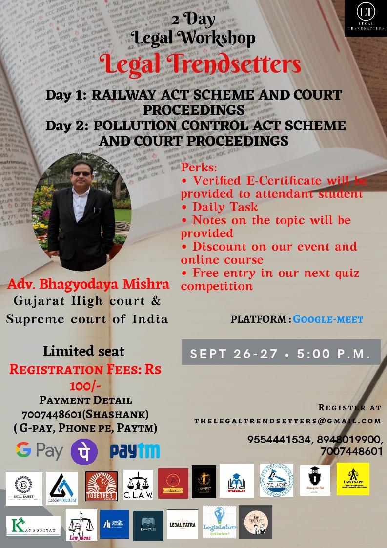 2 Day Legal Workshop by LegalTrendsetter