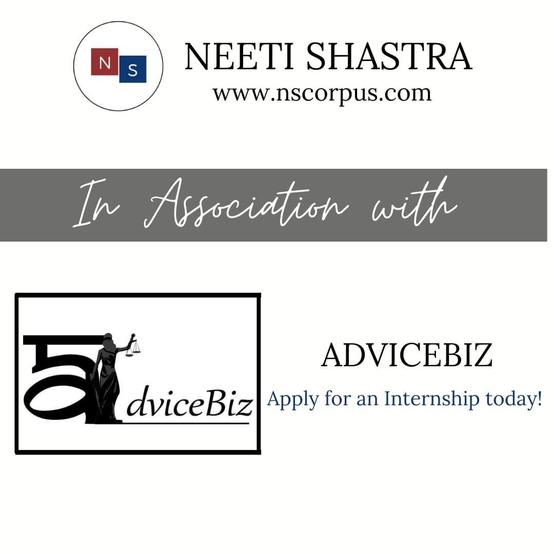 INTERNSHIP OPPORTUNITY WITH ADVICEBIZ BY NEETISHASTRA
