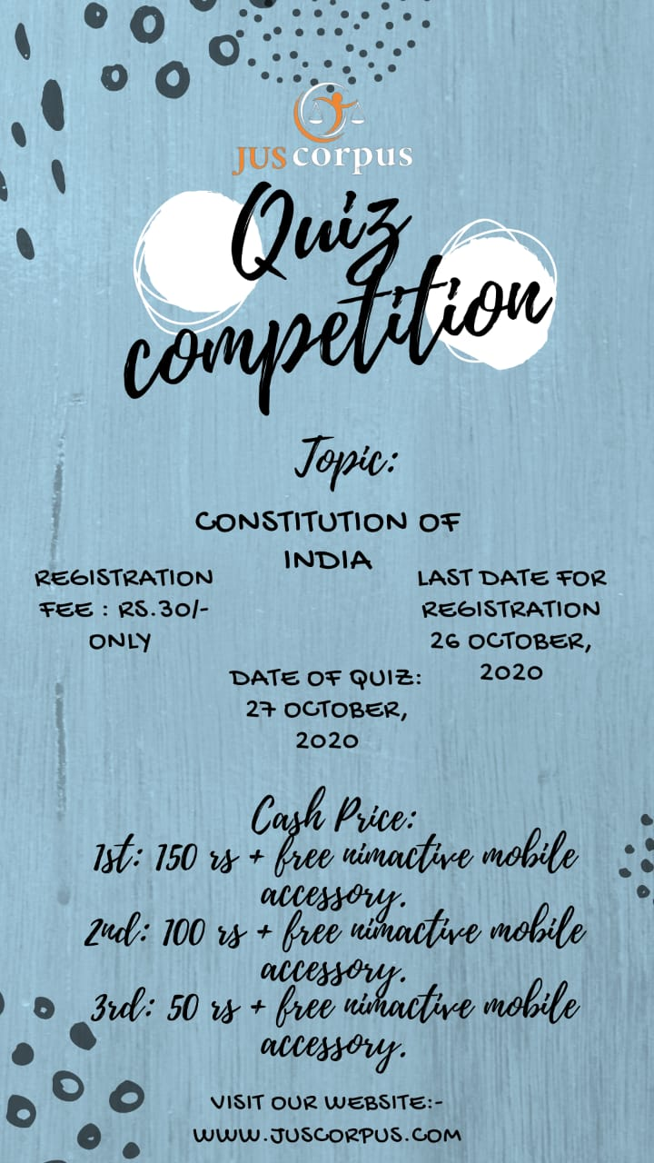 3RD JUS CORPUS NATIONAL QUIZCOMPETITION