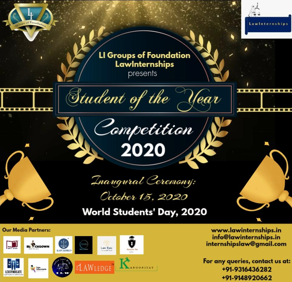STUDENT OF THE YEAR COMPETITION, 2020 BYLAWINTERNSHIPS