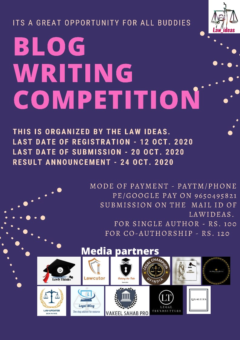 Blog writing competition by The LawIdeas