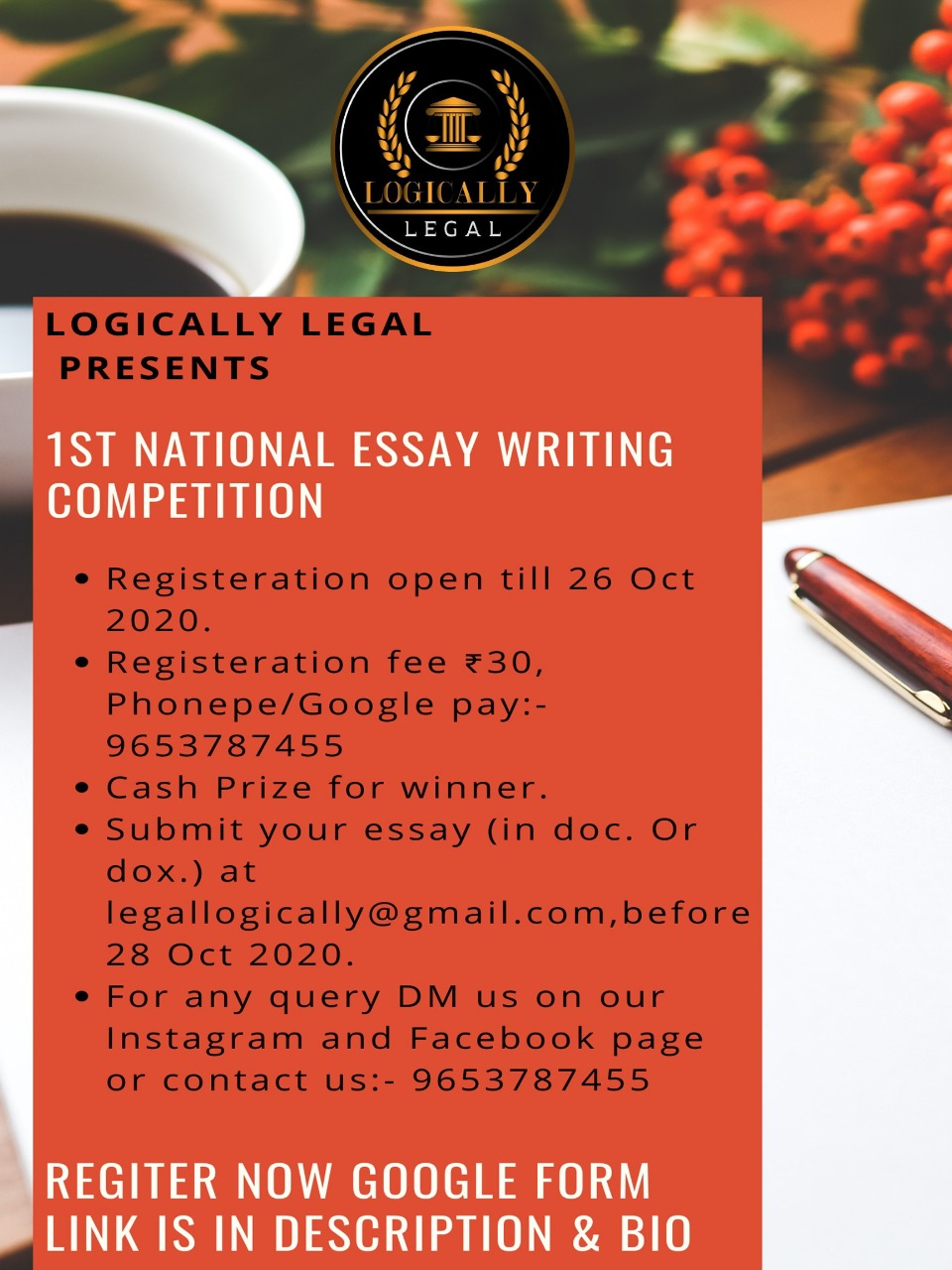 1ST NATIONAL ESSAY WRITING COMPETITION BY LOGICALLYLEGAL