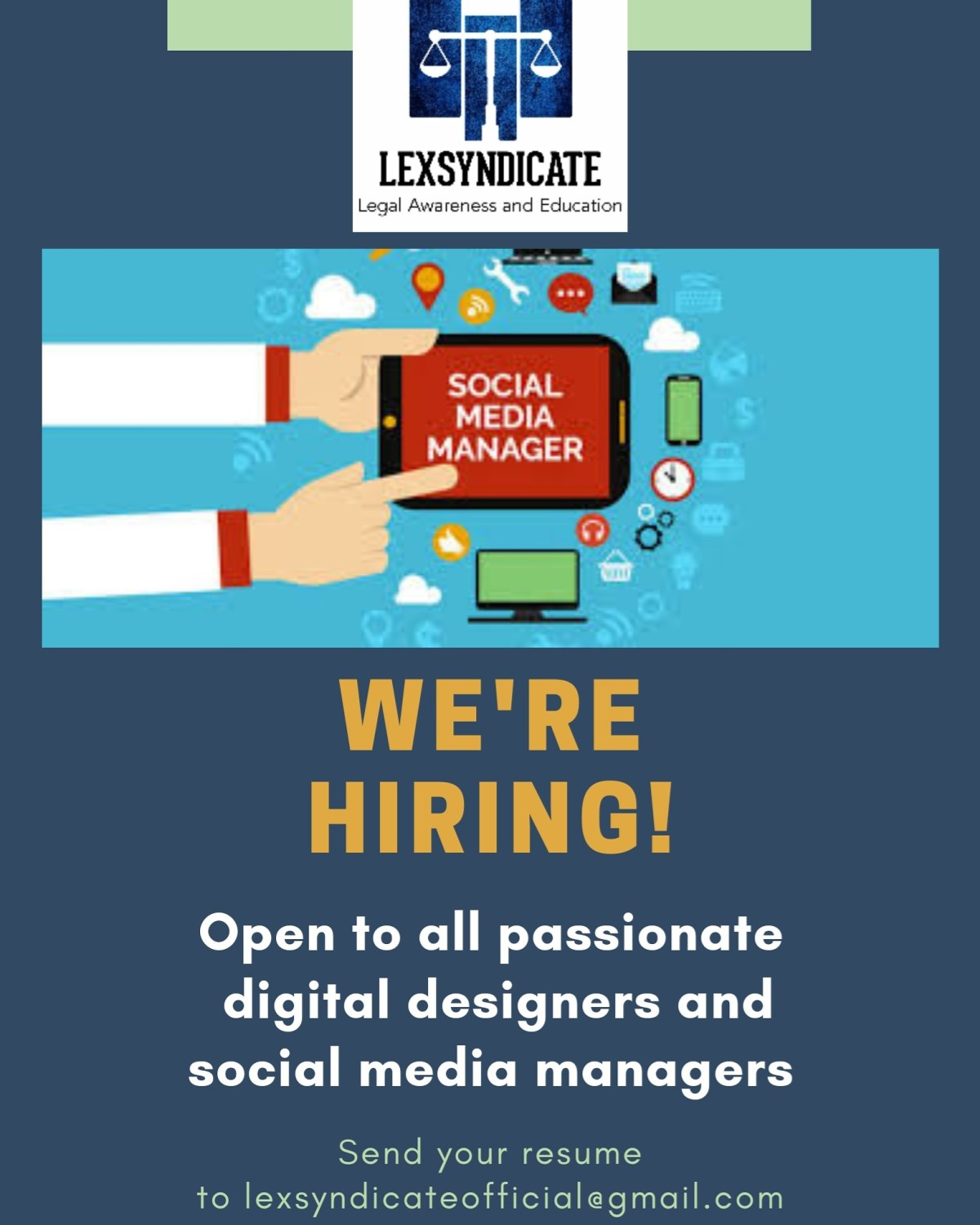 Applications open for Social Media Managers at Lexsyndicate