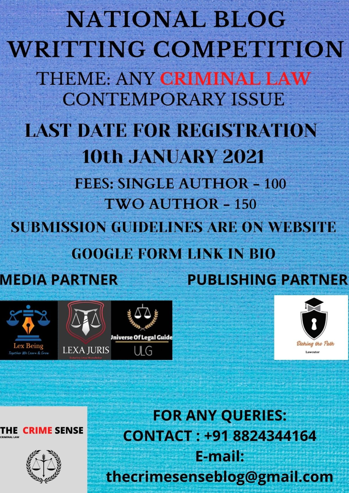 National Blog Writing Competition by The CrimeSense