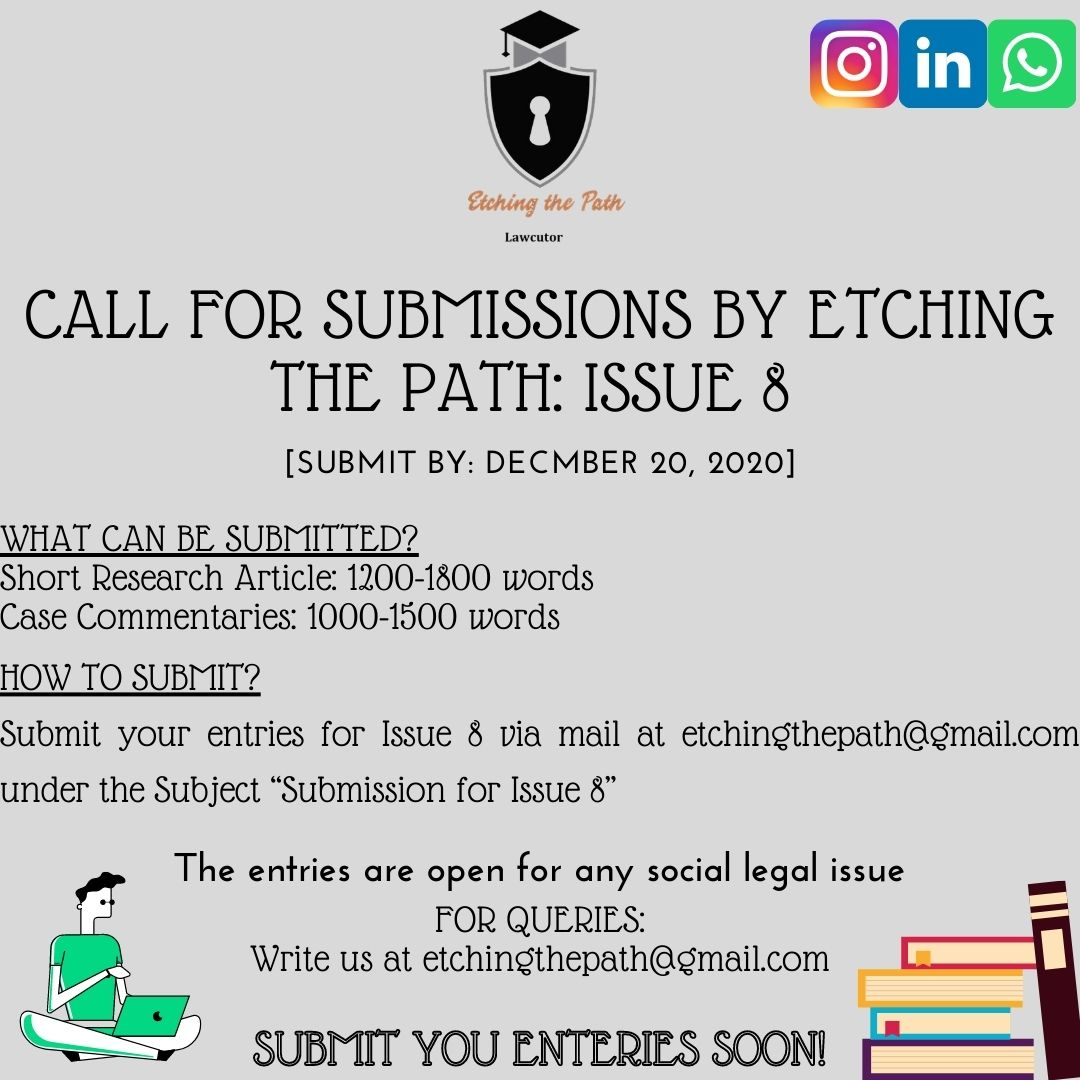 Call for Submissions by Etching the Path: Issue 8 [Submit by: December 20, 2020]