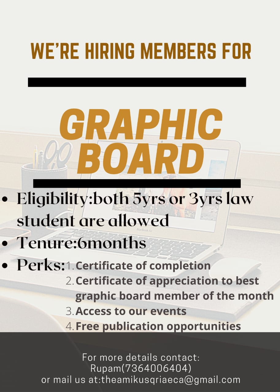 CALL FOR MEMBERS OF THE GRAPHIC BOARD BY AMIKUSQRIAE