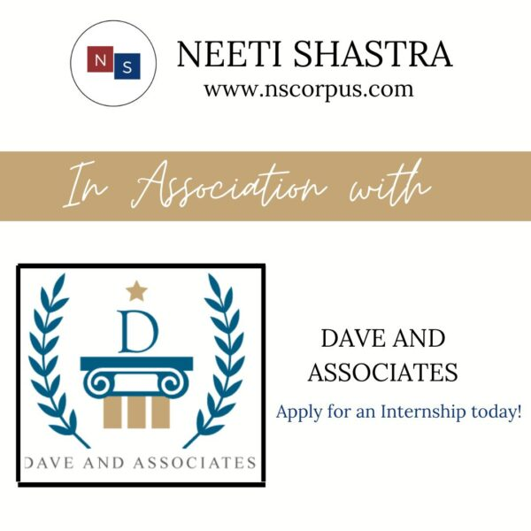 INTERNSHIP OPPORTUNITY WITH DAVE AND ASSOCIATES BY NEETISHASTRA