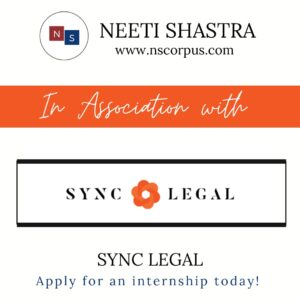 INTERNSHIP OPPORTUNITY WITH SYNC LEGAL BY NEETISHASTRA
