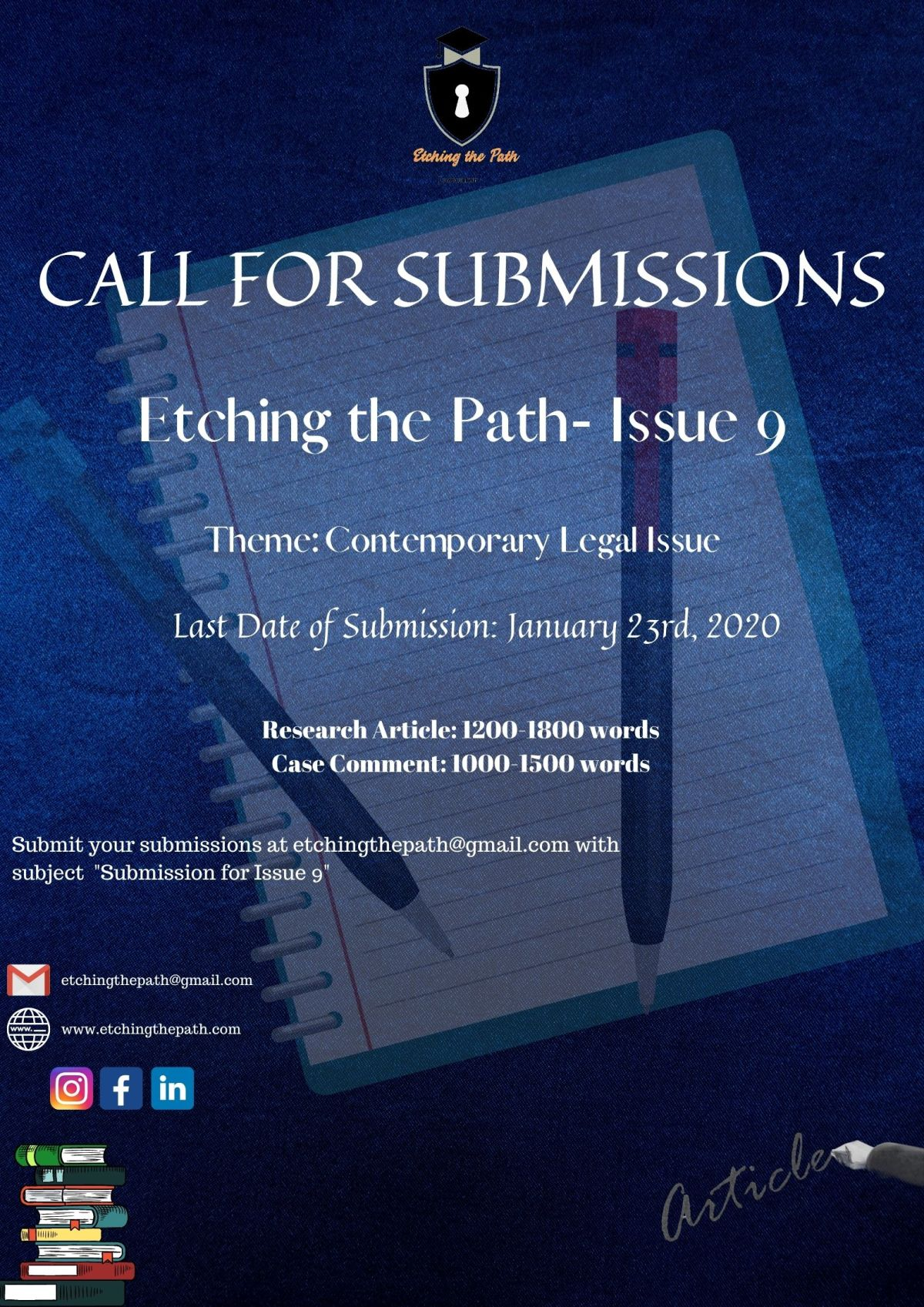 Call for Submissions by Etching the Path: Issue9 [Submit by: January 23rd, 2021]
