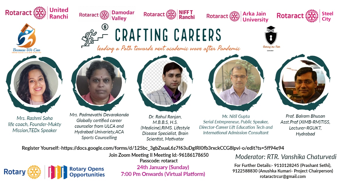 Crafting Careers  by Rotaract Club of United Ranchi