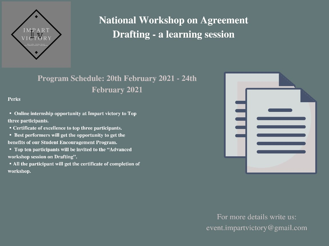 National workshop on contract Drafting by ImpartVictory