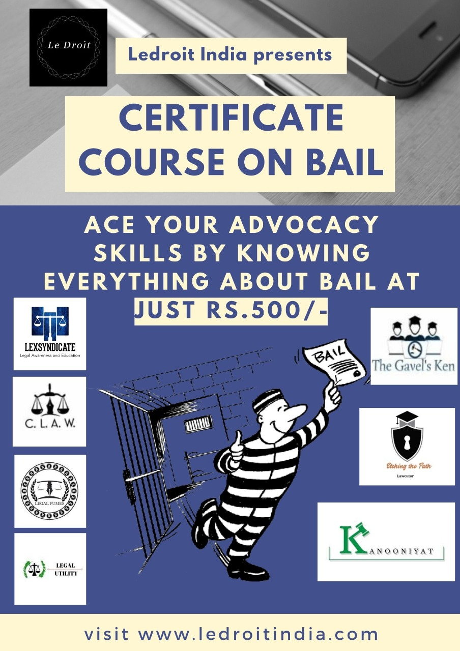 CERTIFICATE COURSE ON BAIL BY LEDROITINDIA
